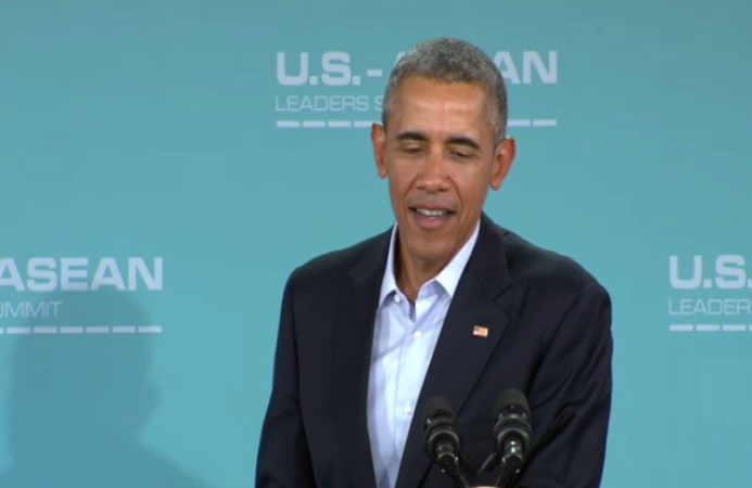 barack obama addressing a press conference over climate change
