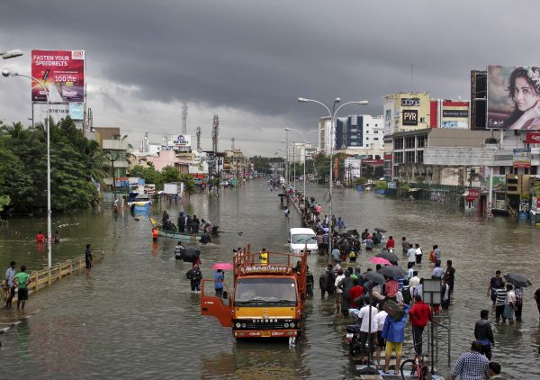 chennai roads unusable and people stucked in their homes