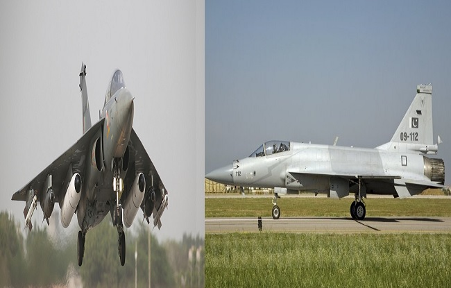 india aircraft hal tejas vs pakistan aircraft thunder features and specfication comparision