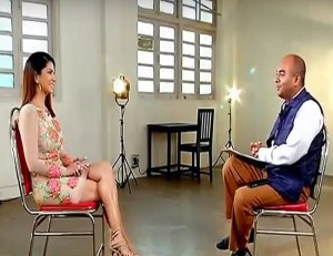 sunny leone interview which took internet with strom with cnn ibn host bhupendra chaubey
