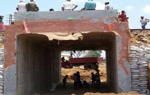 Railway underpass constructed in record time