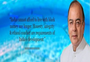 India can no longer live with black money arun jaitley