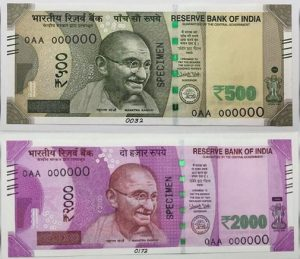 rs 500 and rs 1000 curreny note