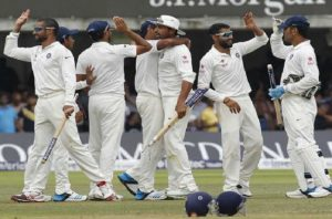 India wins cricket test series against england