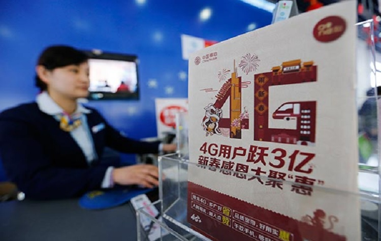 china 4g users mobile internet