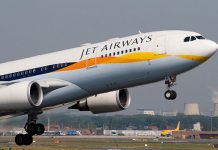 jet airways hits runway