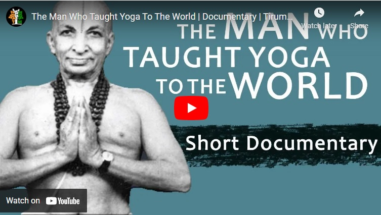 Short documentary on the father of modern yoga tirumalai krishnamacharya.